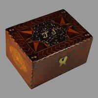 Unique Antique French Specimen Wood Inlaid Box