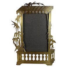 Vintage French Brass Picture Photo Frame Tropical Theme