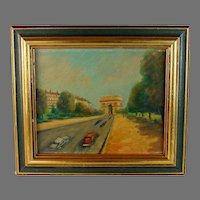 Painting of Paris Arc de Triomphe
