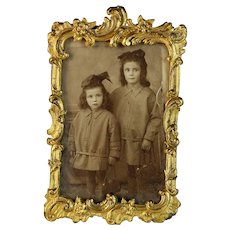 Antique French Gilded Photo Picture Frame Belle Epoque