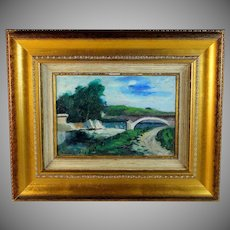 Oil on Board Landscape by French listed artist Daniel Durand