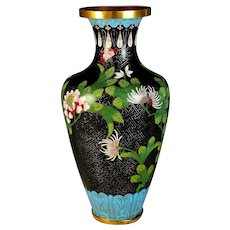 Chinese Cloisonne Vase Cherry Blossoms