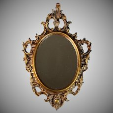 Vintage Italian Syroco Style Gilded Wall Mirror
