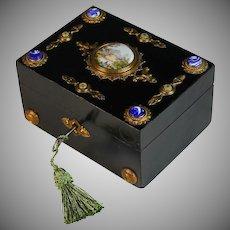 Antique Jeweled Napoleon III Box with Working Key
