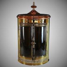 Large Vintage Copper/Brass Storage Cabinet