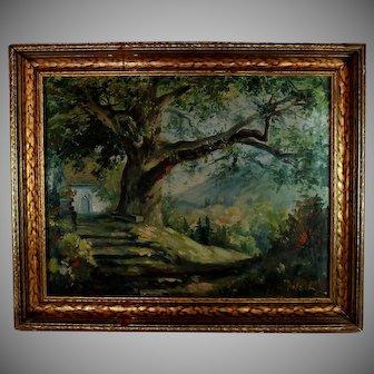 California Landscape Oil on Canvas signed Pfotser