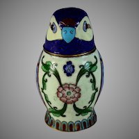 Vintage Chinese Cloisonne Parrot Box with Lid