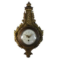 Antique French CH HOUR 8 Day Cartel Clock 19th Century