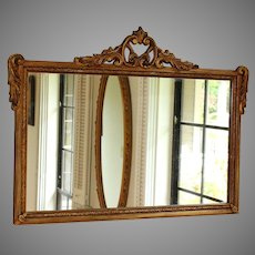 Antique Georgian Style Over-Mantle Mirror