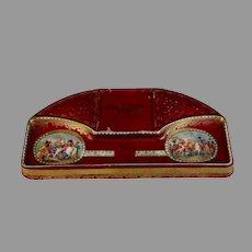 19th Century Paris Porcelain Pen Tray w Napoleonic Battles