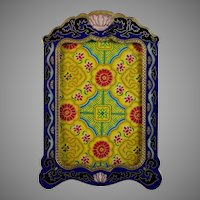 20th Century Cloisonne Picture Frame with Easel