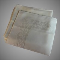 Set of 12 Antique White Open Weave Napkins