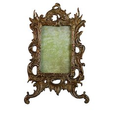 Antique French Photo Frame Gilded Bronze