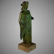 Grand Tour Bronze of Greek Goddess Artemis