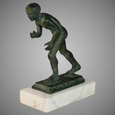 Grand Tour Bronze of a Roman Wrestler