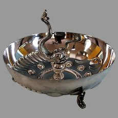 Antique French Silverplate Fish Centerpiece Bowl