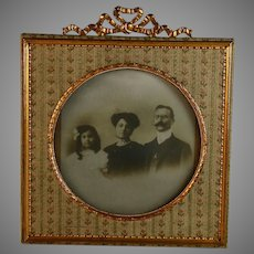 Antique Napoleon III French Bow Top Photo Frame B
