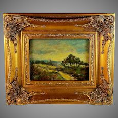 French School Oil Painting of a Landscape Unsigned