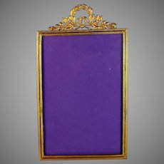 Antique French Empire Style Photo Frame Easel Back