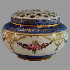 Antique Old Paris Porcelain Flower Vase Tulipiere