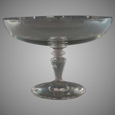 Vintage Baccarat Crystal Compote Elevated Bowl Dish