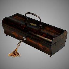 Antique Louis Philippe Coromandel Box with Key