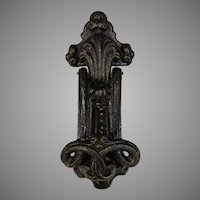 Large Antique French Iron Door Knocker