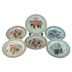 Set of 6 Portmeirion Botanic Garden Dinner Plates 10.5""