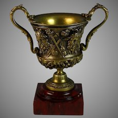 Napoleon III Repousse Two-Handled Bronze Coupe or Cup