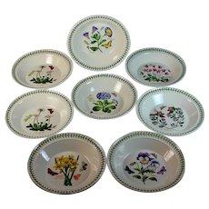 "Set of 8 Portmeirion Botanic Garden Rim Soup Bowl 8 1/2"""