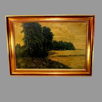 Landscape Tonalist Oil Painting Signed A. Wieth
