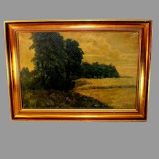 Landscape Tonalist Oil Painting Signed A. Wieth