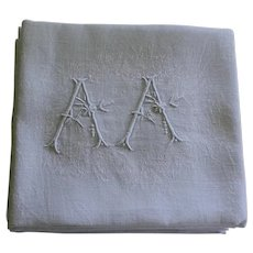 10 Antique French White Monogrammed Napkins A A plus 1