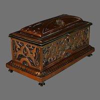 Antique French Copper Repousse Box Casket