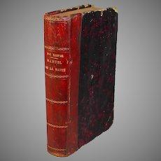 F V Raspail Manuel de la Sante pour 1878