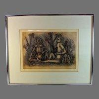 1974 Etching by Julio Alpuy (1919-2009) Artist Proof