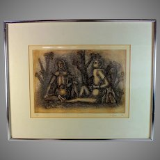 1974 Etching by Julio Alpuy (1919-2009) Artist Proof