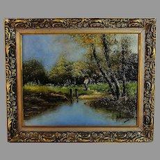 French Barbizon Style Landscape Painting
