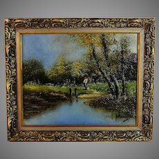 French Barbizon Style Landscape Painting