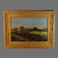 Landscape Oil Painting by French Artist Lucas de Montigny (1844-1908)