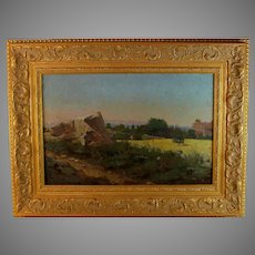 Landscape Oil Painting by French Artist Lucas de Montigny (1844-1908)