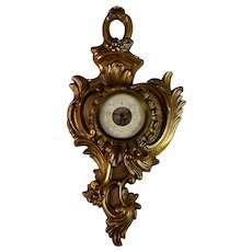 Antique French Bronze  Barometer
