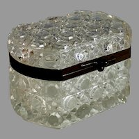 Charming Antique French Crystal Casket Box