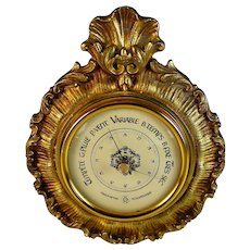 Antique French Bronze Holosterique Barometer