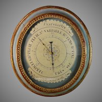 Antique 19th Century French Aneroid Barometer