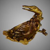 Antique French Bronze Porte Montre Watch Holder Dragon
