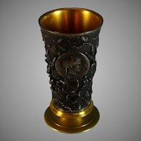 Grand Tour Bas Relief Bronze Cup Beaker Roman Theme
