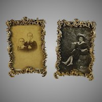 Set of Antique French Gilded Photo Frames