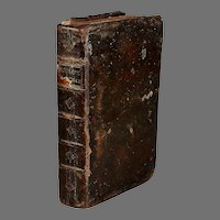 Original 18th Century French Geography Book with 12 Engraved Plates of Maps