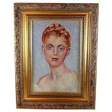 French Oil Painting Portrait of a Young Woman